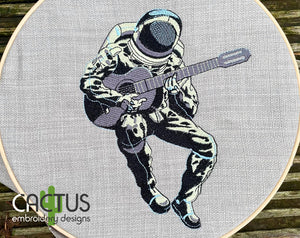 Guitarist Embroidery Design