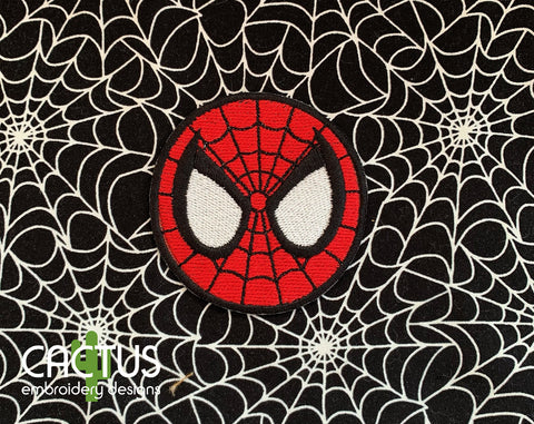 Spider Mask Embroidery Design