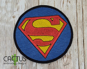 S Man Patch Embroidery Design