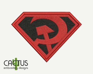 S Man Red Son Patch Embroidery Design