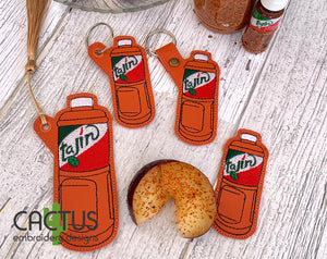 T Seasoning Set of Bookmark\Bag Tag, Eyelet Fob, Feltie, Snap Tab