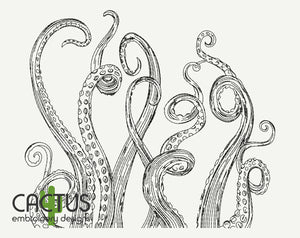 Tentacles Embroidery Design