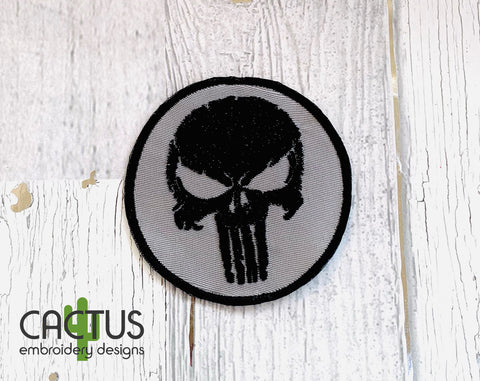 The Punisher Embroidery Design