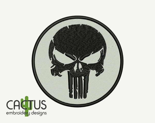 The Punisher Patch Embroidery Design