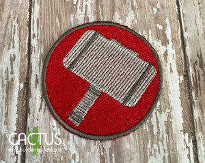 Mjolnir Patch Embroidery Design