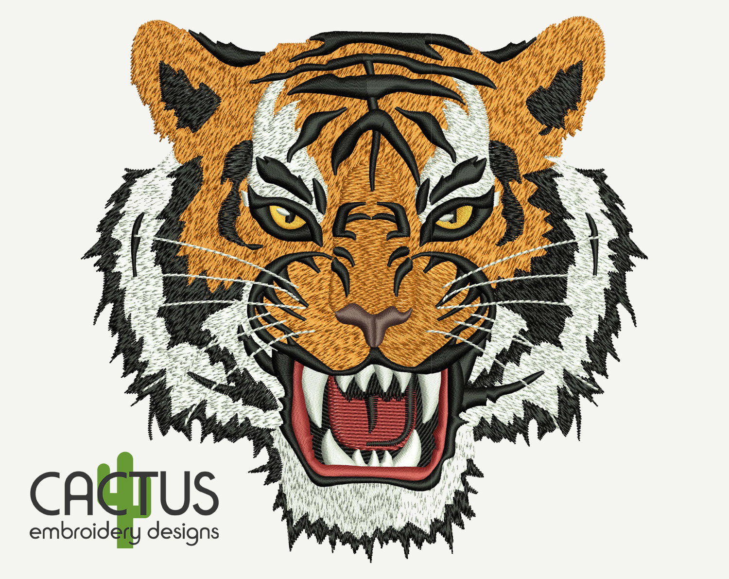 Tiger Machine Embroidery Design