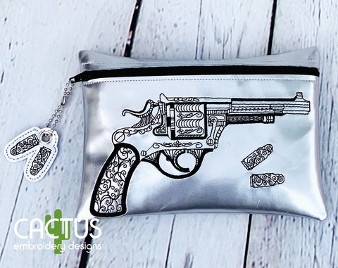 Weapon Zipper Bag & Bullets Zipper Pull
