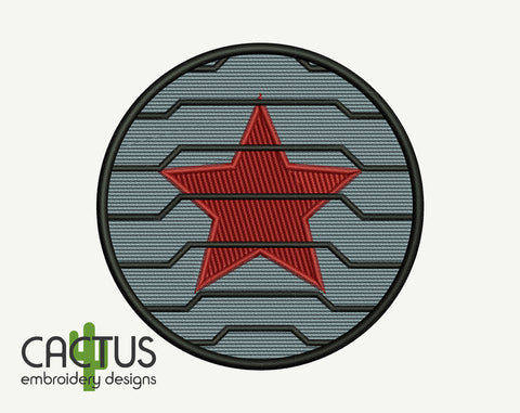 Winter Soldier Embroidery Design