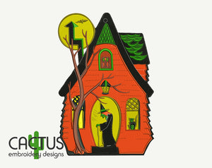 Witch House Embroidery Design