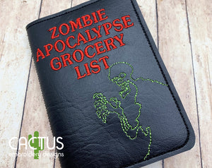 ZA Grocery List Notebook Cover