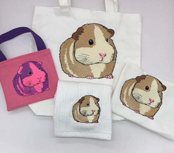 Guinea Pig Embroidery Design