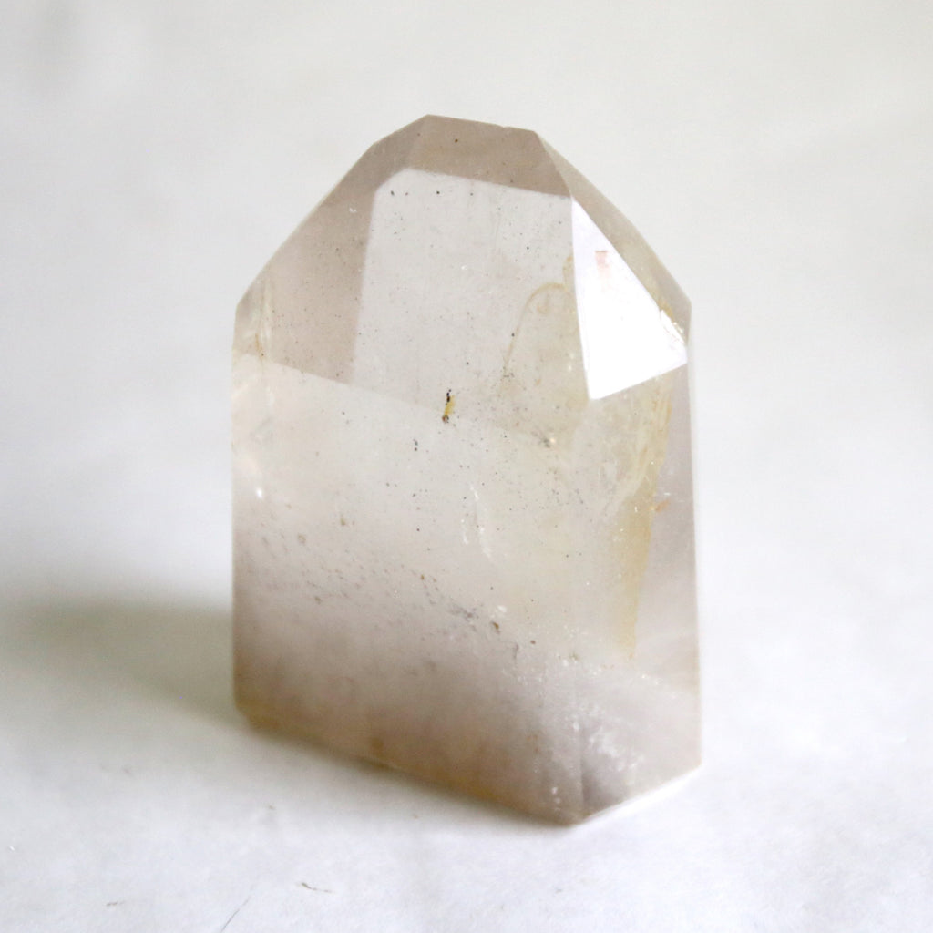 Smoky Quartz Tower with Inclusions