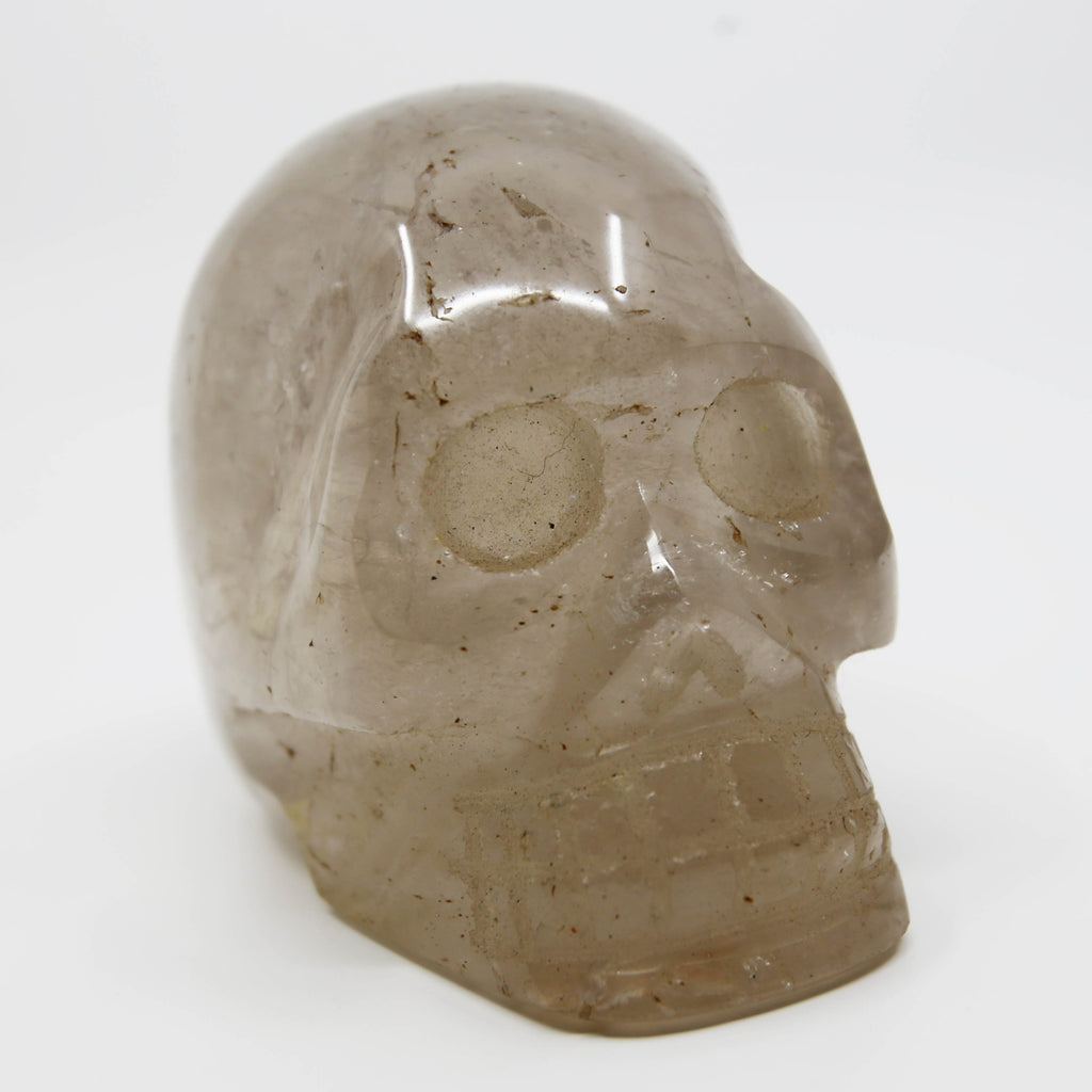 Smoky Quartz Hand Carved Skull