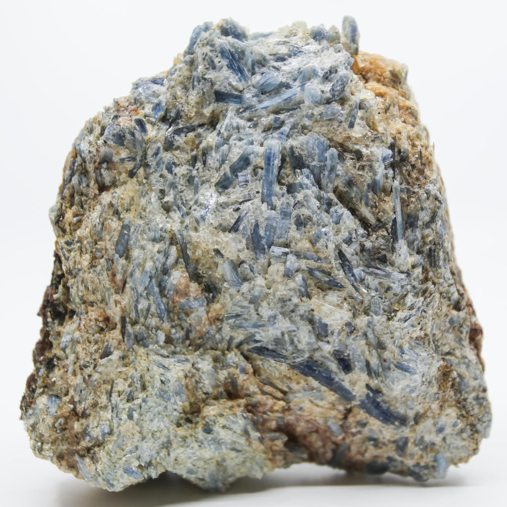Large Blue Kyanite with Mica and Calcite Freeform