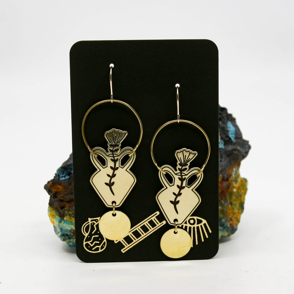 California Poppy Vessel Earrings