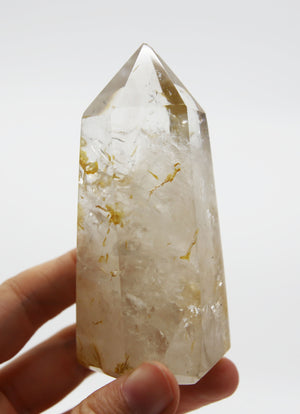 Veiled Quartz Tower with Tourmaline Rutiles