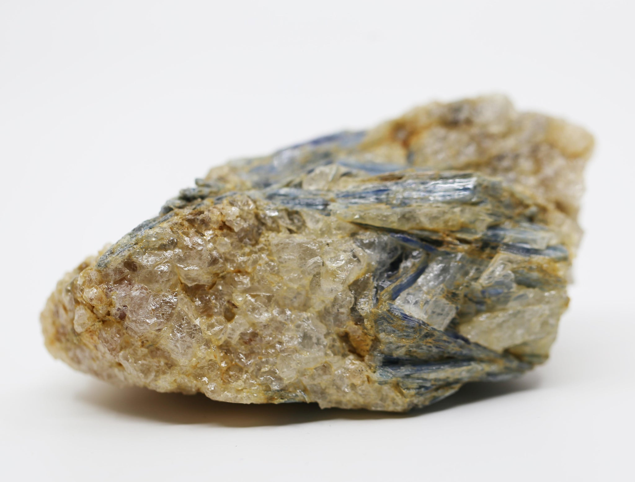 Blue Kyanite with Mica and Calcite Freeform