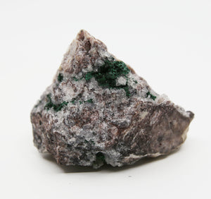 Malachite Calcite and Quartz Point Specimen