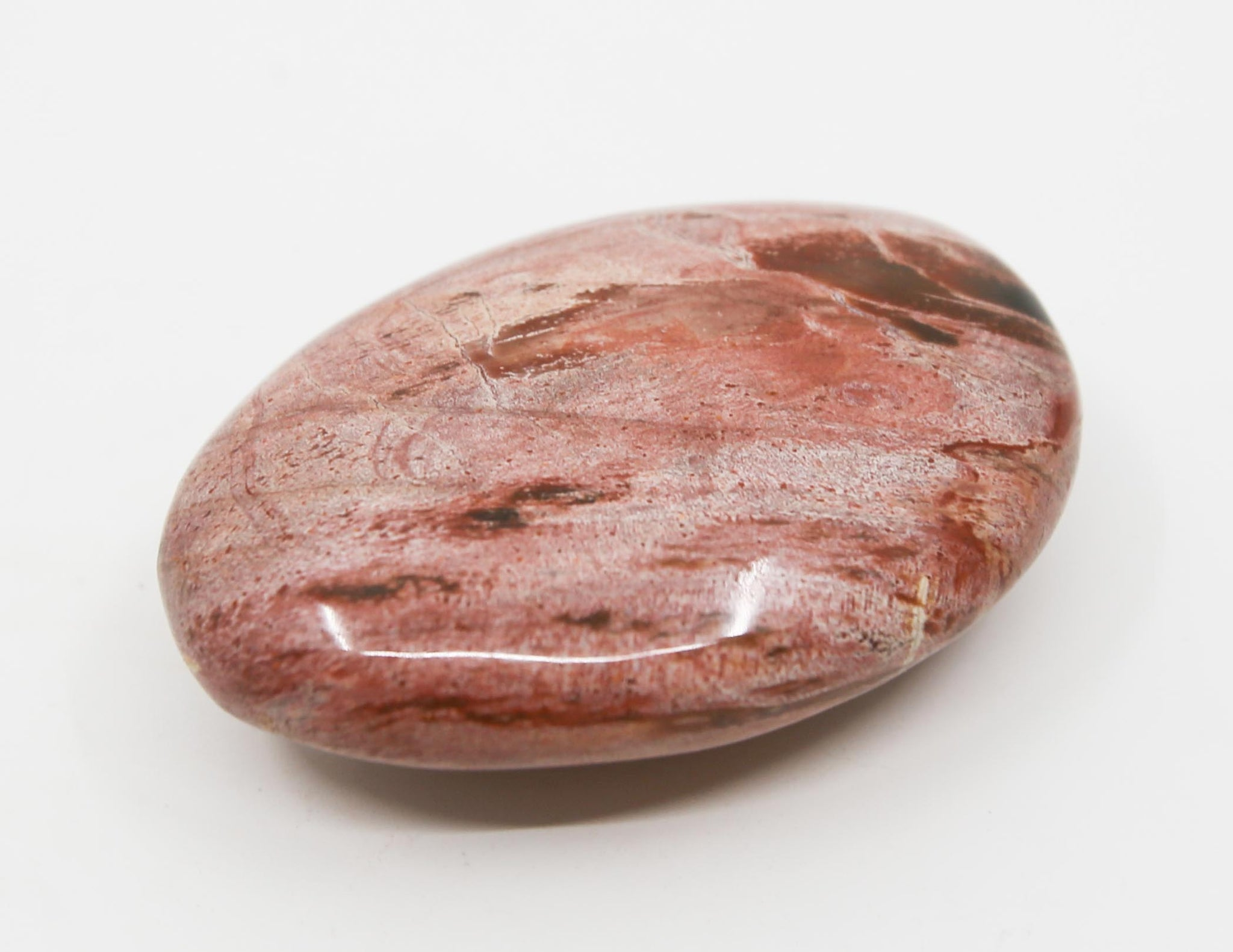 Pink Petrified Wood Palm Stone