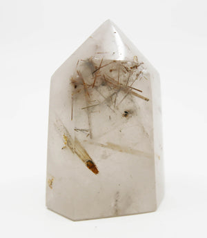 Quartz Tower with Rutiles and Inclusions