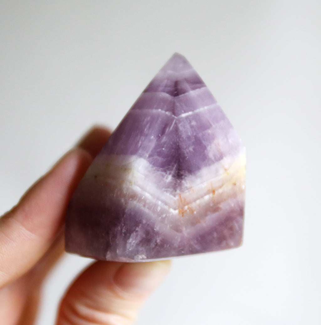 Banded Amethyst and Quartz Tower