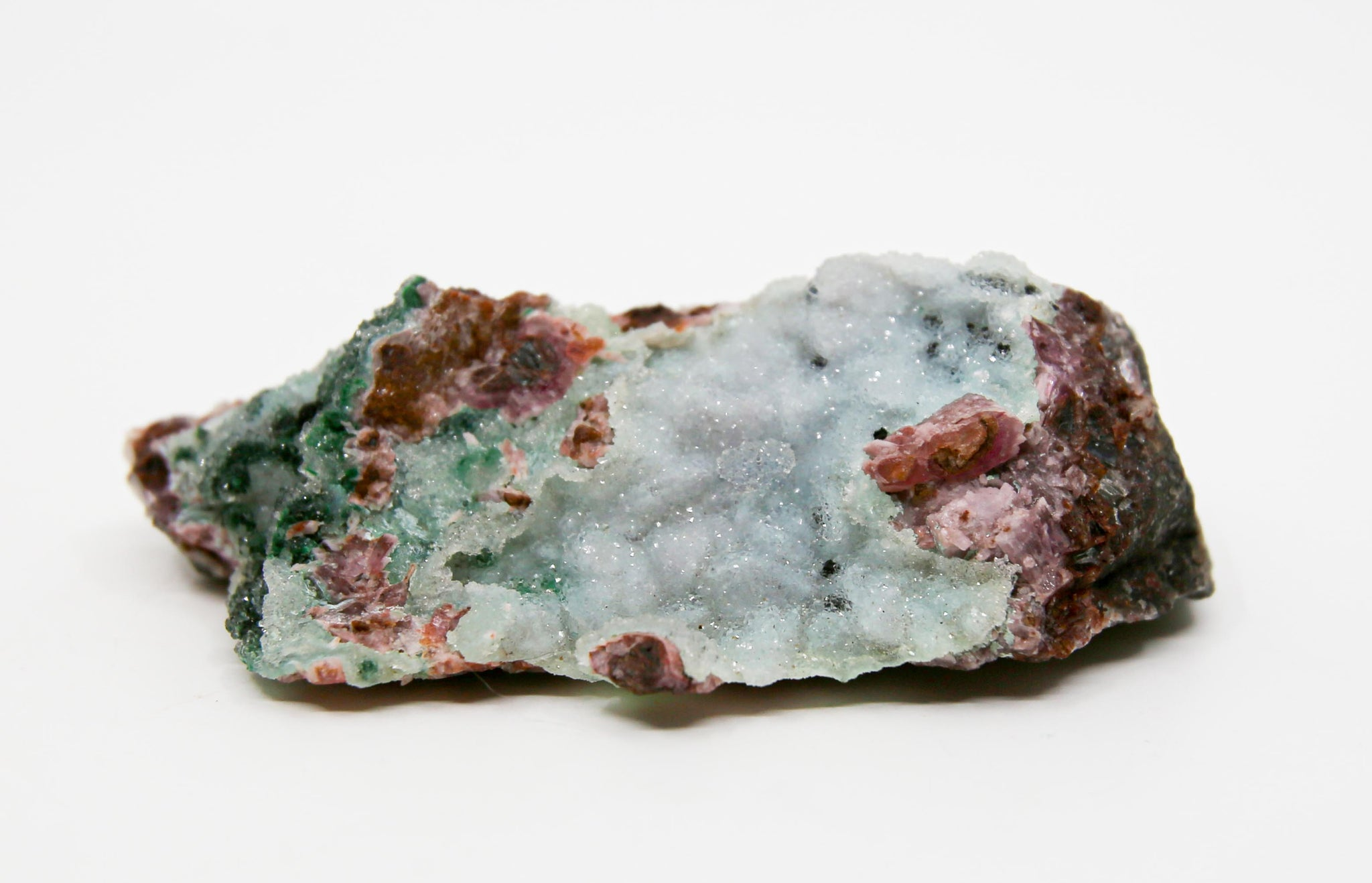Druzy Malachite, Dolomite and Pseudo Chrysocolla