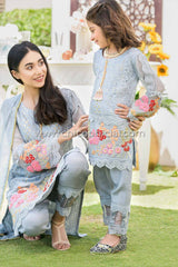 Carnation Grey Mother Daughter Combo