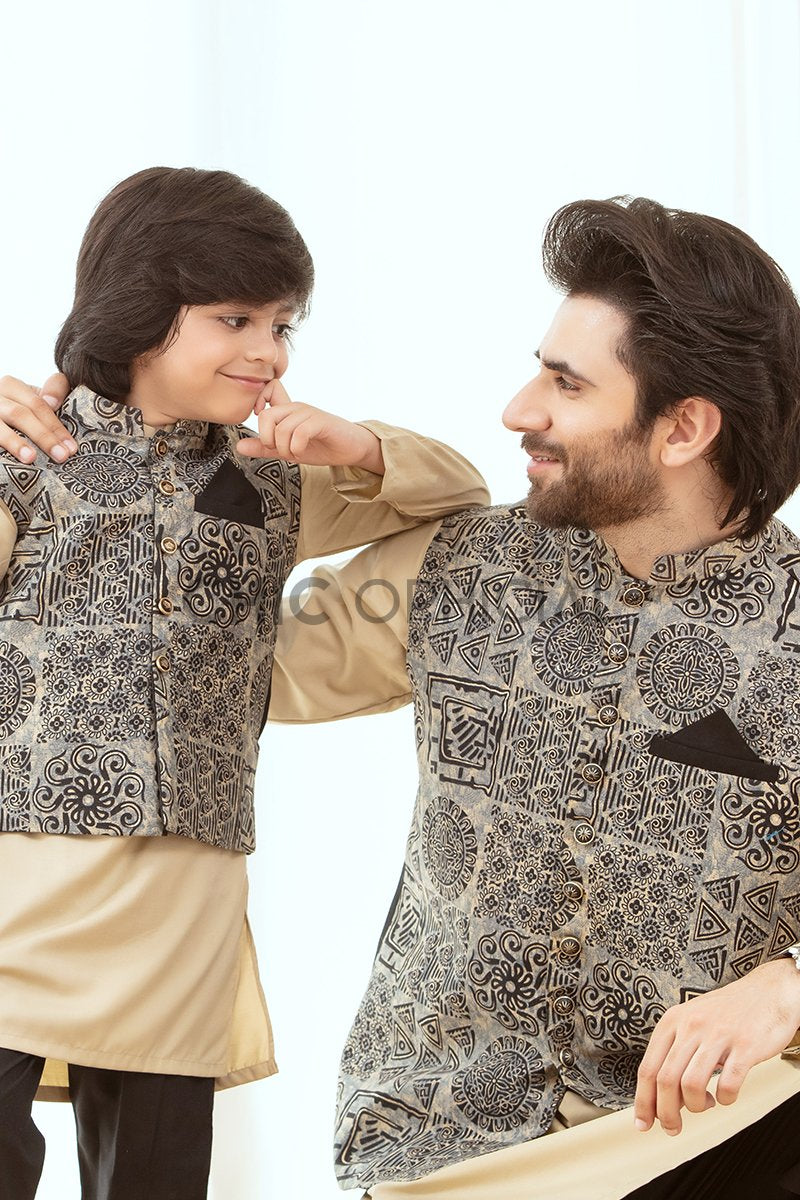 Batik effect Father Son Combo