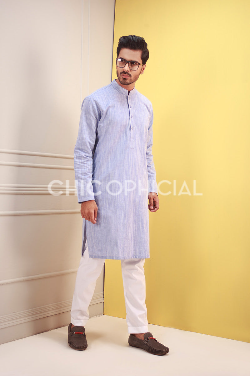 Denim Textured Kurta