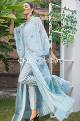 Blue Sequin Kaftan