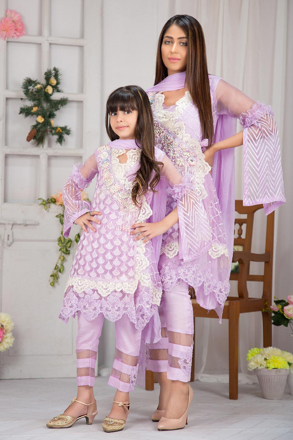 Lavender Glam Mother Daughter Combo
