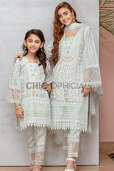 Ice Ash Grey Mother Daughter Combo