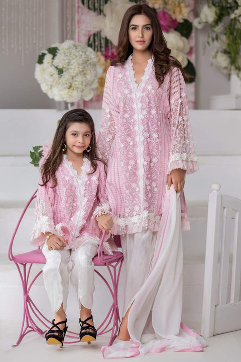 crystal pink mother daughter combo