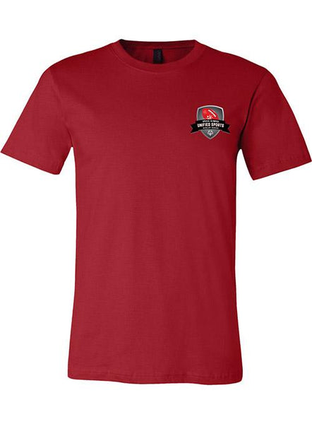 Unified Sports Football Rivalry Series T-shirt-Canvas Red