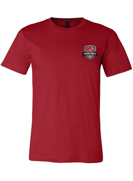 Unified Sports Basketball Rivalry Series T-shirt-Canvas Red
