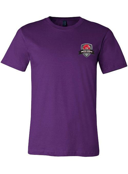 Unified Sports Basketball Rivalry Series T-shirt- Purple