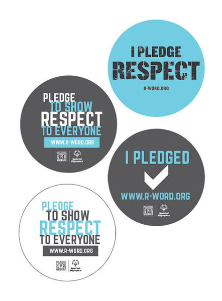 Non-dated Spread the Word 4 Pack of Buttons