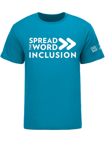 SPREAD THE WORD/INCLUSION TROPICAL BLUE TEE
