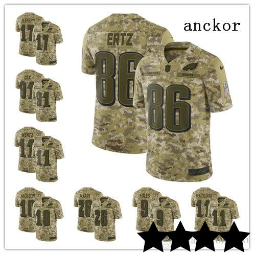 huge selection of 1bd1f 3fc92 2019 Philadelphia Eagles MEN Salute to Service Jerseys 11 Carson Wentz 86  Zach Ertz Limited Jersey