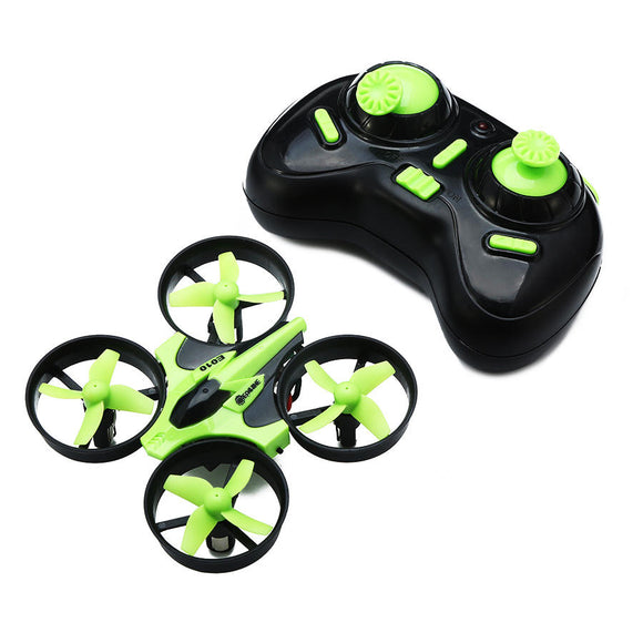 Eachine E010 Mini 2.4G 4CH 6 Axis Headless Mode RC Drone Quadcopter RTF			 - Black Green Mode 1 (Right Hand Throttle)