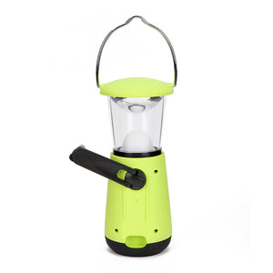 Hand Crank Dynamo Rechargeable Camping Lantern Flashlights Fishing Light Outdoor