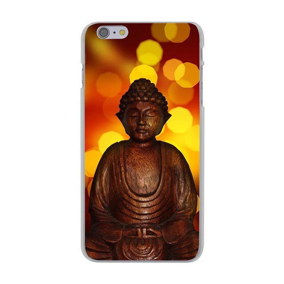 Glowing Buddha India Hard Cover Case for Apple iPhone
