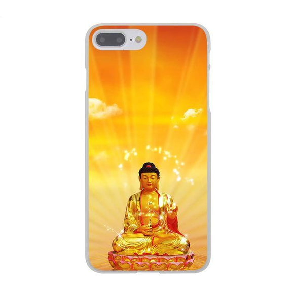 Yellow Buddha India Hard Cover Case for Apple iPhone