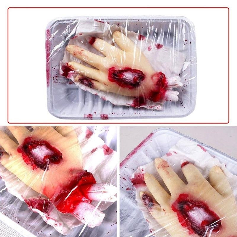 Halloween Scary Blood Hand Horror Props Halloween Party Decor