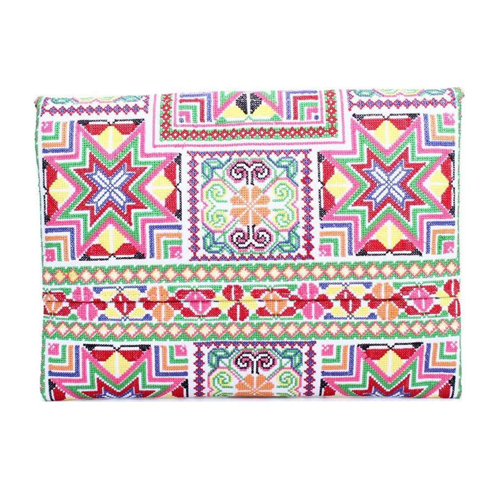 Needlepoint Star Clutch