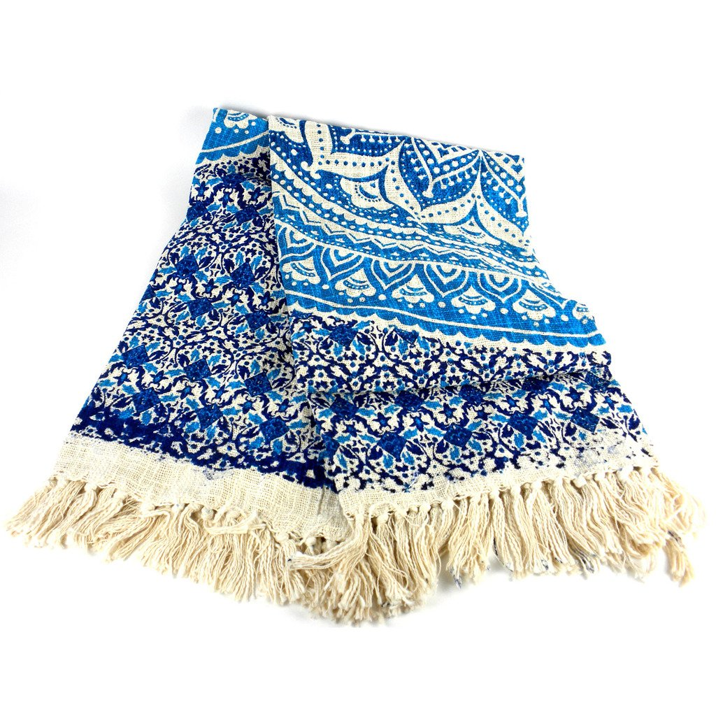 Mandala Throw Blue 50 by 70 inches - Mira (L)