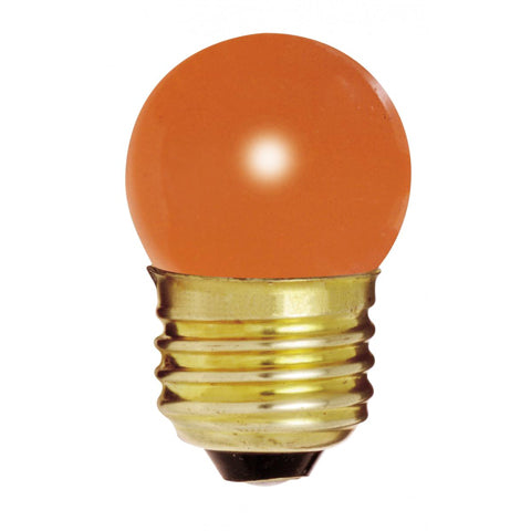 7.5W S11 Sight Orange Medium Base Lamp