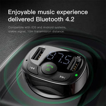 Load image into Gallery viewer, Baseus T typed Car Charger Bluetooth Transmitter - Deal Gamed