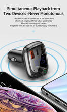 Load image into Gallery viewer, Baseus T typed Car Bluetooth Mic , FM , MP3 Player , Qualcomm 3.0 PD Fast Charge - Deal Gamed