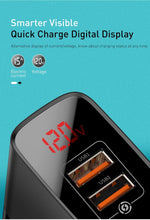 Load image into Gallery viewer, Baseus Mirror Lake Dual QC Digital Display Quick Charger - Deal Gamed